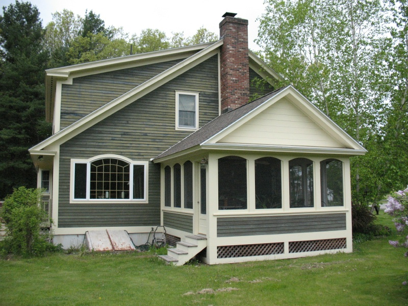 Screened porches power and company builders for Hip roof porch addition